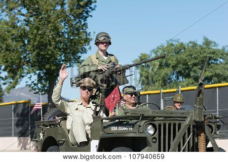 Military Vehicle And Veterans