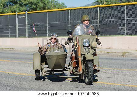 Veteran Drives A Motorcycle