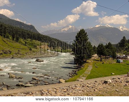River flowing down the valley