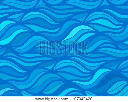 wave background of doodle hand drawn lines