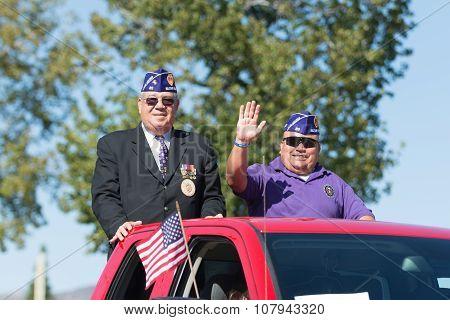 American Veterans .on The Truck