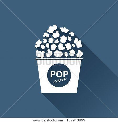 Vector pop corn icon