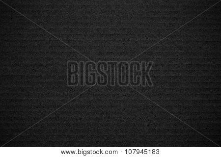 Black Corrugated Cardboard Texture