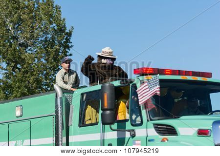 Forest Service Fire Truck And Smokey Bear