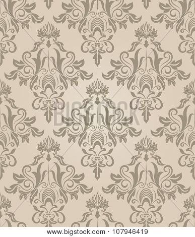 Seamless beige retro pattern.