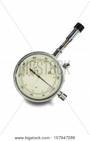Mechanical Tachometer Is Insulated On Light Background