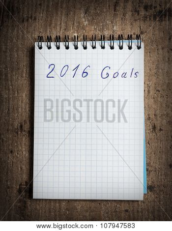 Notebook and goals of new year 2016