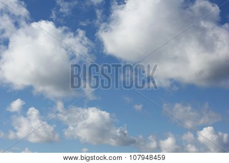 Clouds At Blue Sky