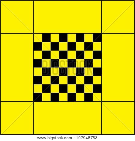 Chess Table Black On Yellow