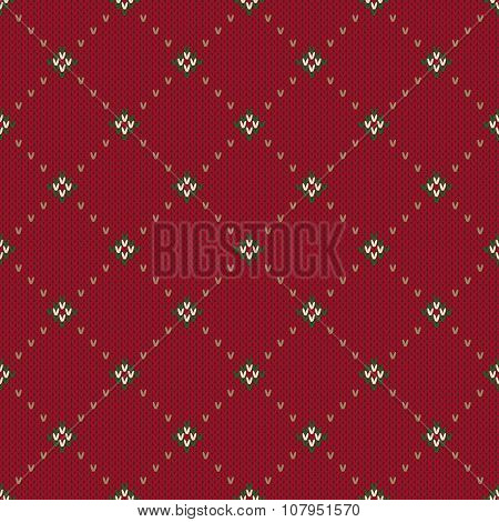 Traditional Christmas Sweater Design. Seamless Knitted Pattern