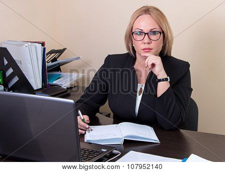 Business woman at the workplace