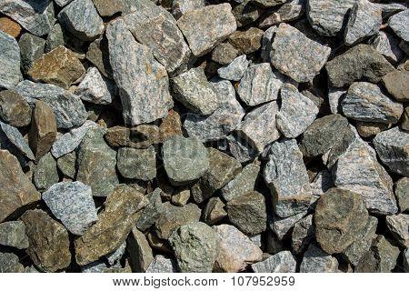Large Gravel Rocks Close Up