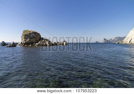 Small Island Near The Sea Shore