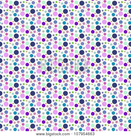 Purple Dotted And Circular Seamless Pattern