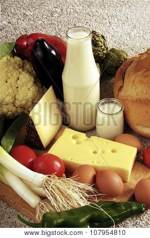 Dairy Products And Vegetables