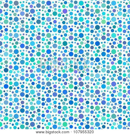 Blue Dotted And Circular Seamless Pattern