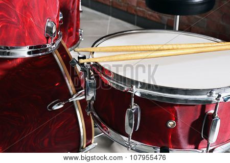 Drum set closeup