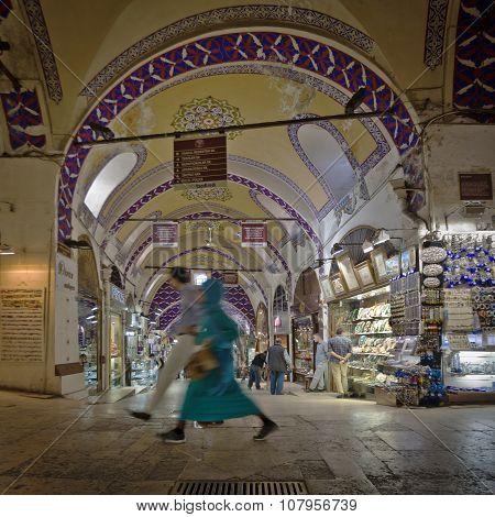 Walking In The Grand Bazaar In Istanbul