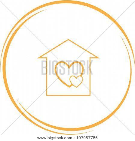 orphanage. Internet button. Vector icon.