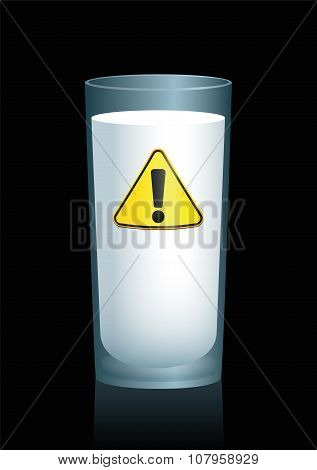 Milk Unhealthy Hazard Symbol