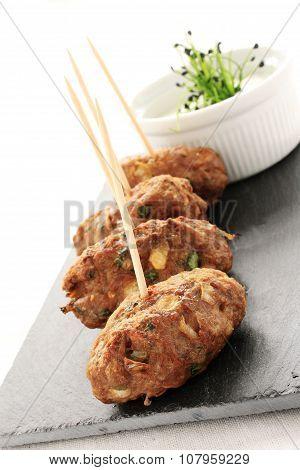 kofte kebab canapes