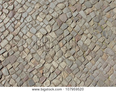 Top View Of Cobble Stones