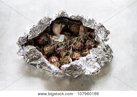 Roasted Chestnuts In Tinfoil