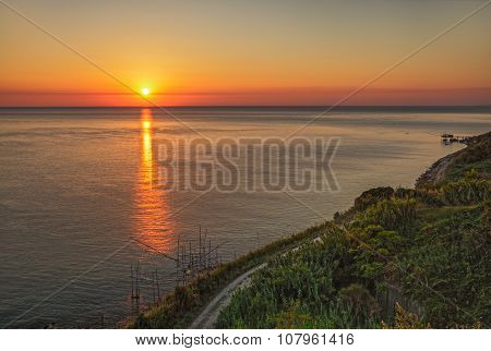 Coast Of The Adriatic Sea In Chieti, Abruzzo, Italy
