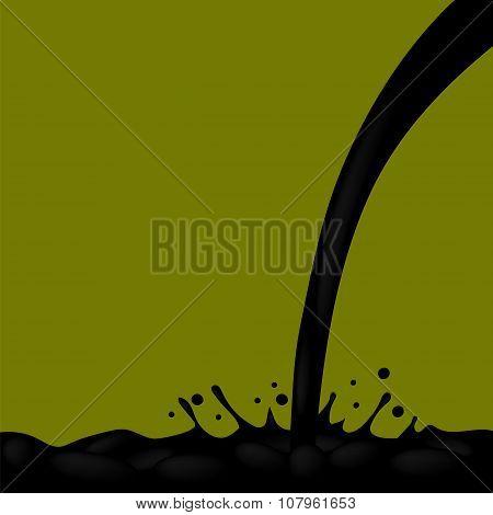 Oil Splash. Droplets and Splatter