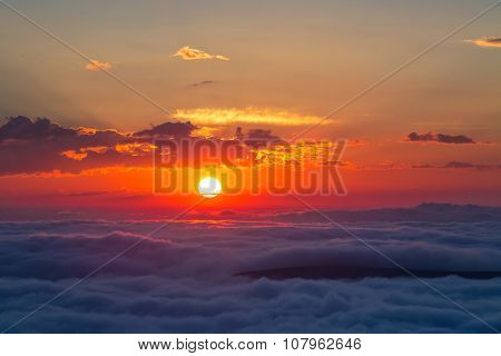 sunset at mountains