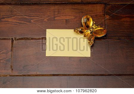Yellow Envelope With Butterfly