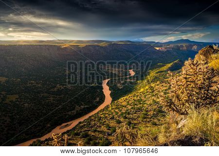 New Mexico Sunrise Over The Rio Grande River