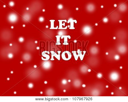 let it snow quote illustration