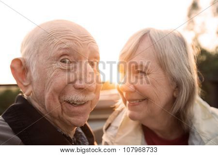 Senior Couple Joking Together