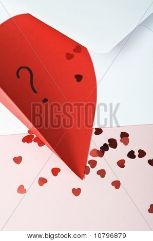 Valentines Card And Heart Trinkets