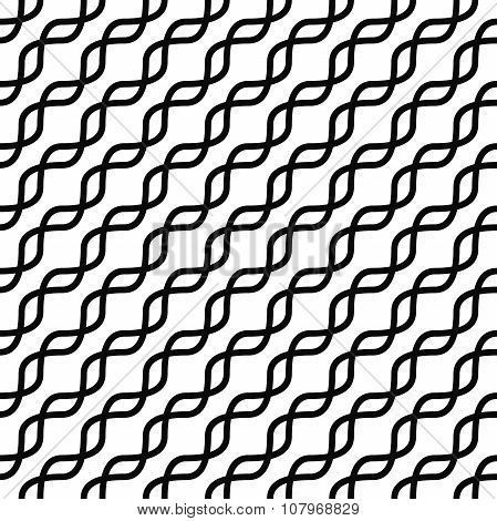 Monochromatic seamless curved line pattern design