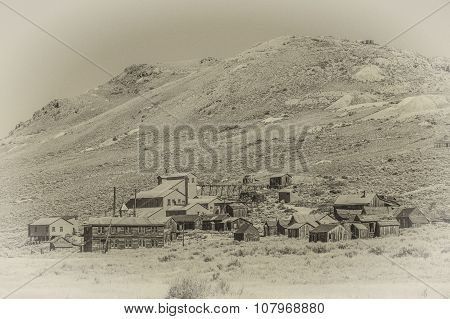 Vintage Style Photo Of Bodie Ghost Town