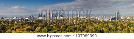 Panorama Of Frankfurt As Seen From Viewpoint Goetheturm
