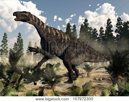 Iguanodon roaring - 3D render