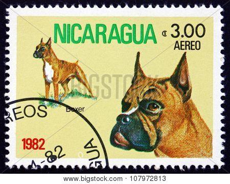 Postage Stamp Nicaragua 1982 Boxer, Dog