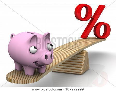 Favorable interest rates. Financial concept