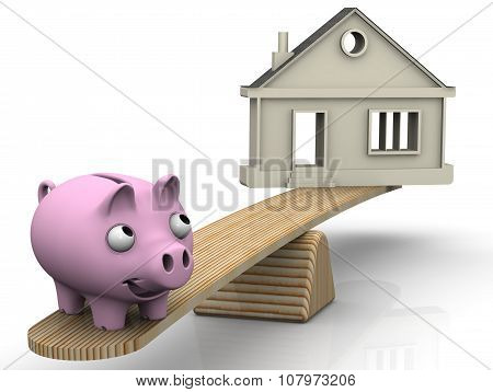 Bargain property. Financial concept