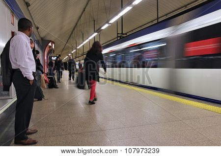 Madrid Metro Train