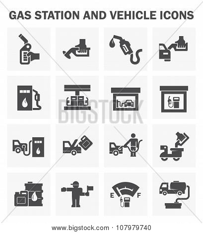 Gasoline Station Set