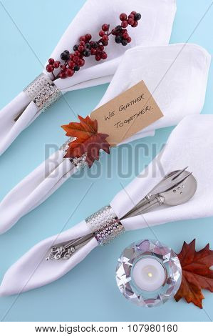 Thanksgiving Table With Napkins