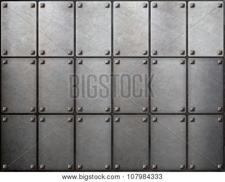 tiled metal background
