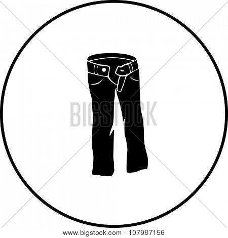 denim pants symbol