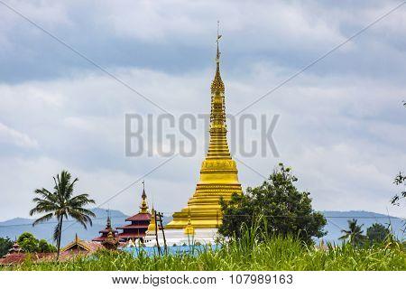 Golden Stupa, Inle Lake, Myanmar