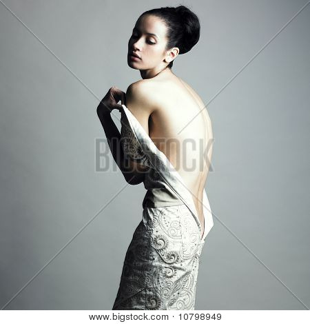 Undress Elegant Woman