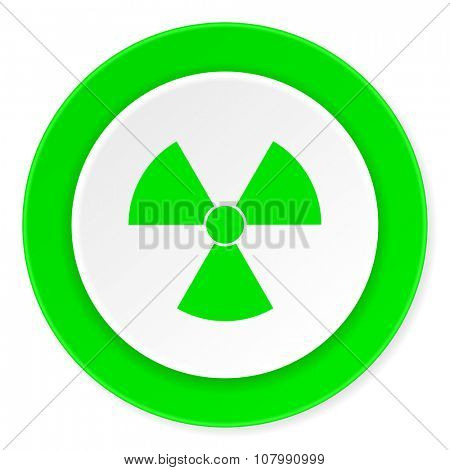 radiation green fresh circle 3d modern flat design icon on white background